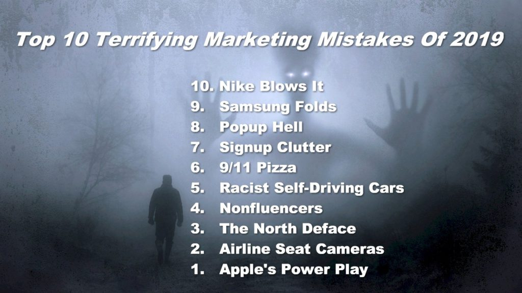 Photo: Top 10 Terrifying Marketing Mistakes of 2019