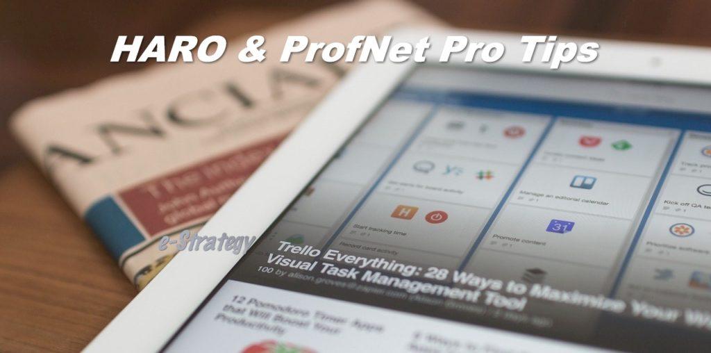 HARO & ProfNet Pro Tips