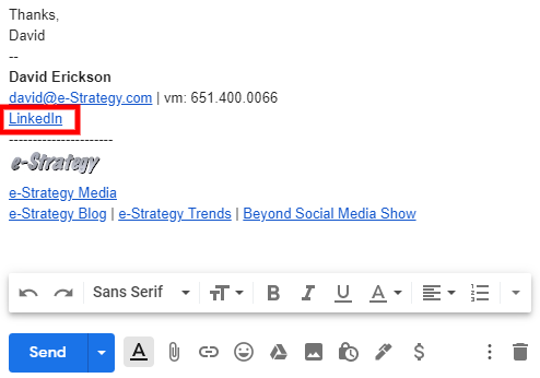 Screenshot: Email Signature LinkedInpng