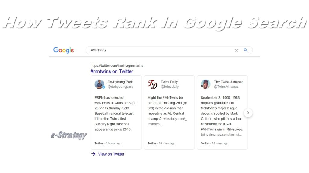 How Tweets Rank In Google Search