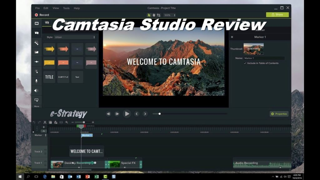 Camtasia Studio Review