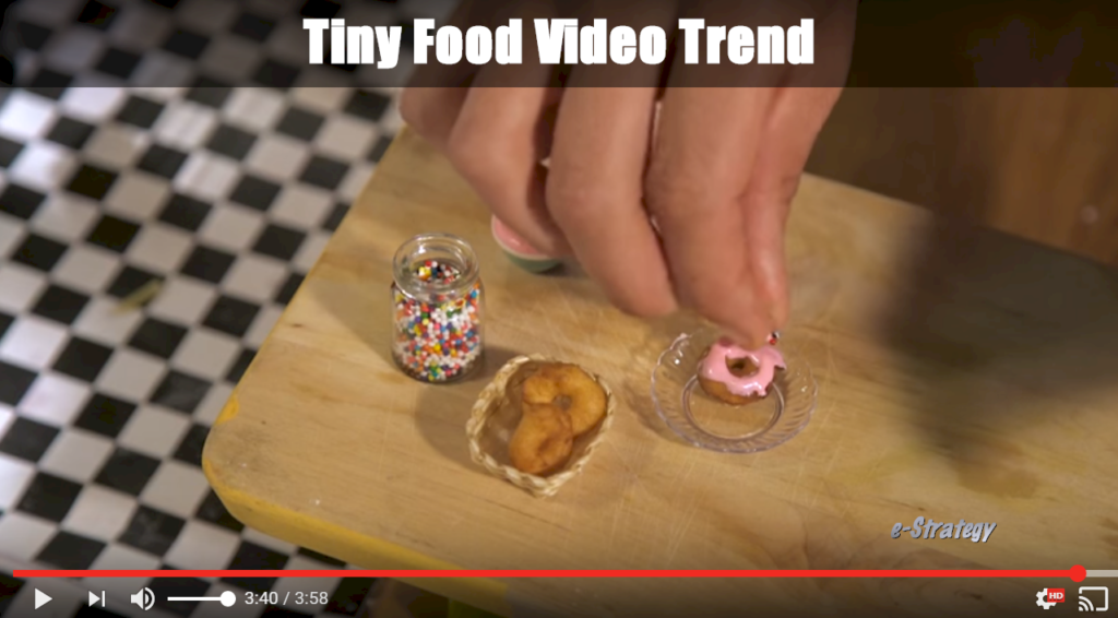 Tiny Food Video Trend