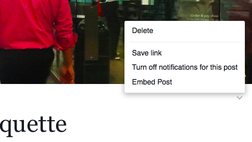 Screenshot: Facebook Notes - Embed Post