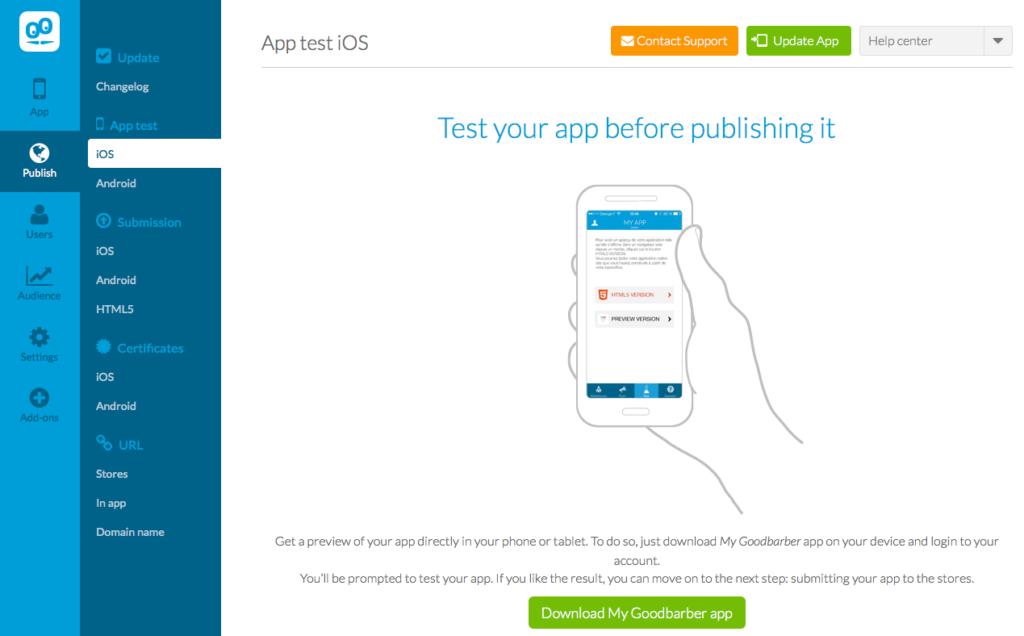 GoodBarber - App Testing