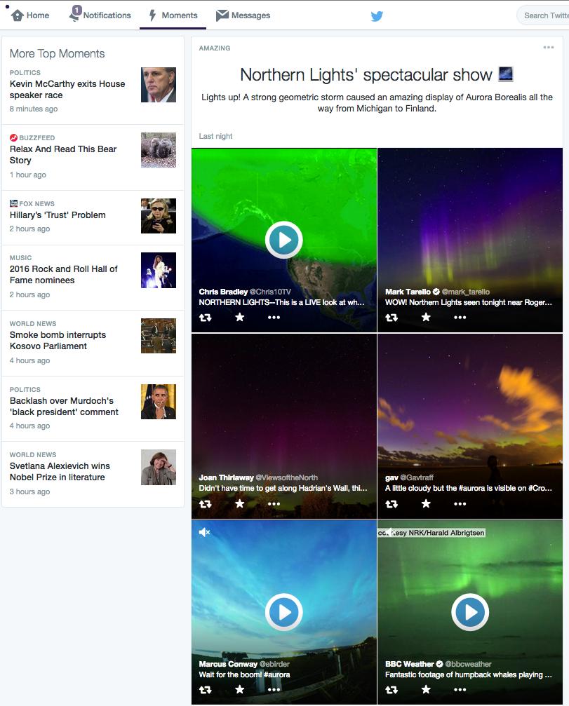 Twitter Moments - Desktop