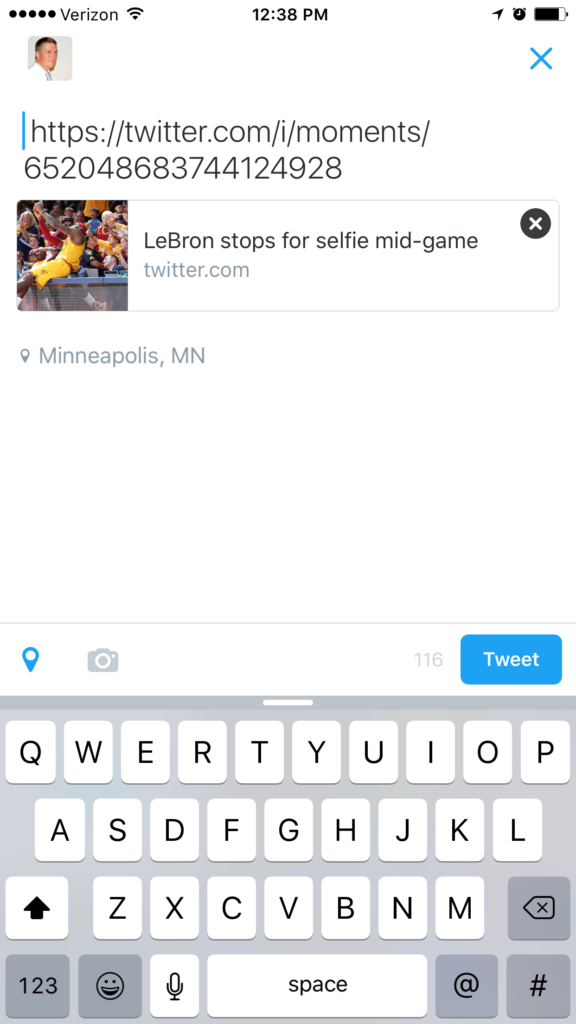 Twitter Moments - Mobile