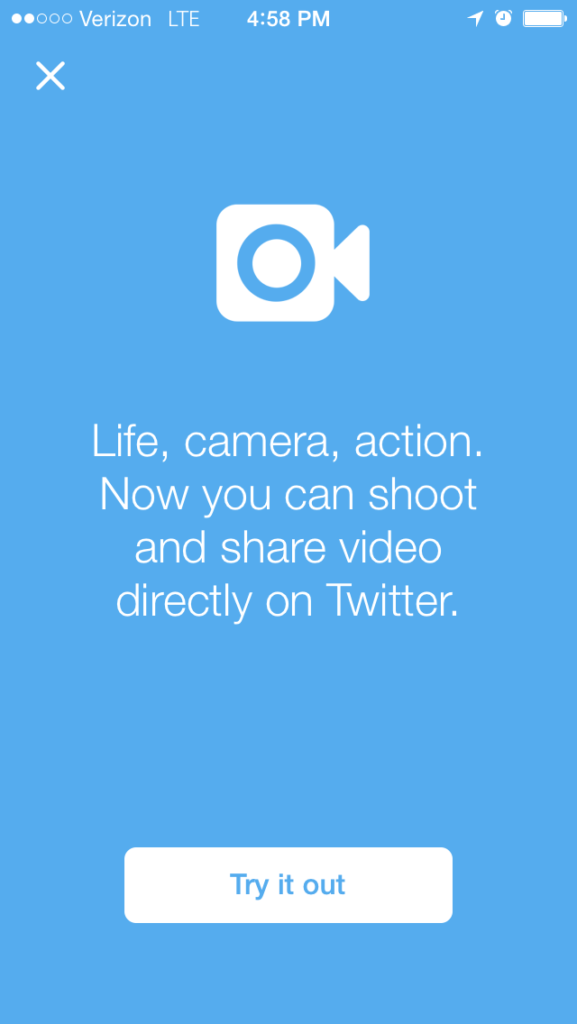 Screenshot: Twitter Video Uploads