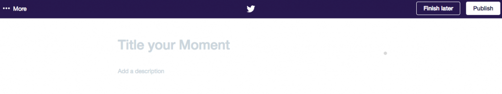 Screenshot: Twitter Moments - Edit Title