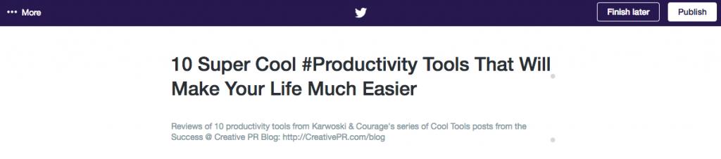 Screenshot: Twitter Moments - Edited Title Description