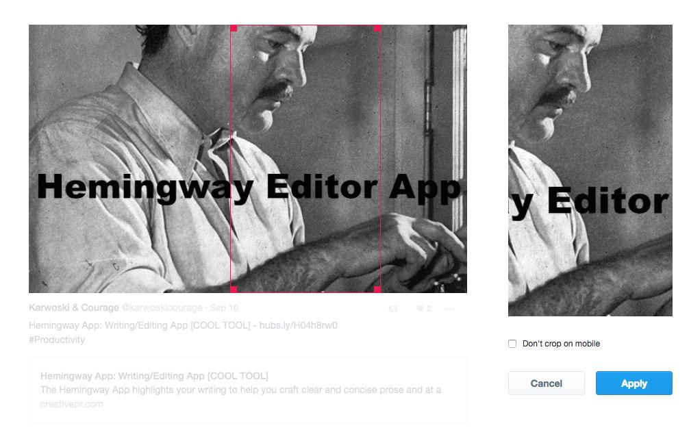 Screenshot: Twitter Moments - Hemingway Editor
