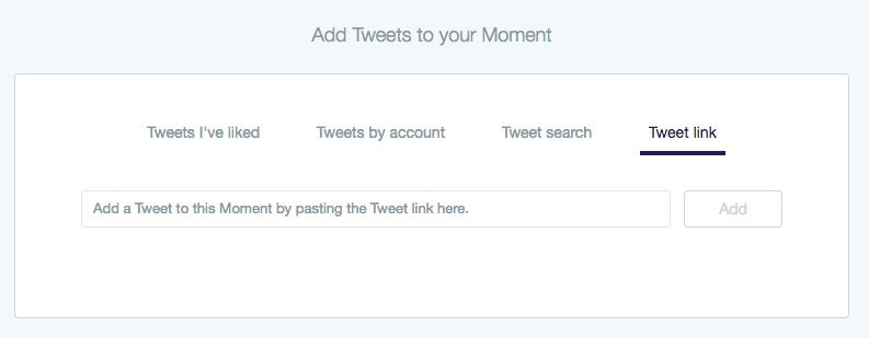 Screenshot: Twitter Moments - Tweet Link