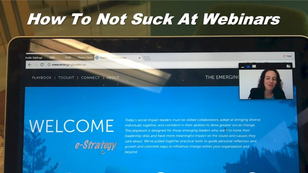 How To Not Suck At Webinars