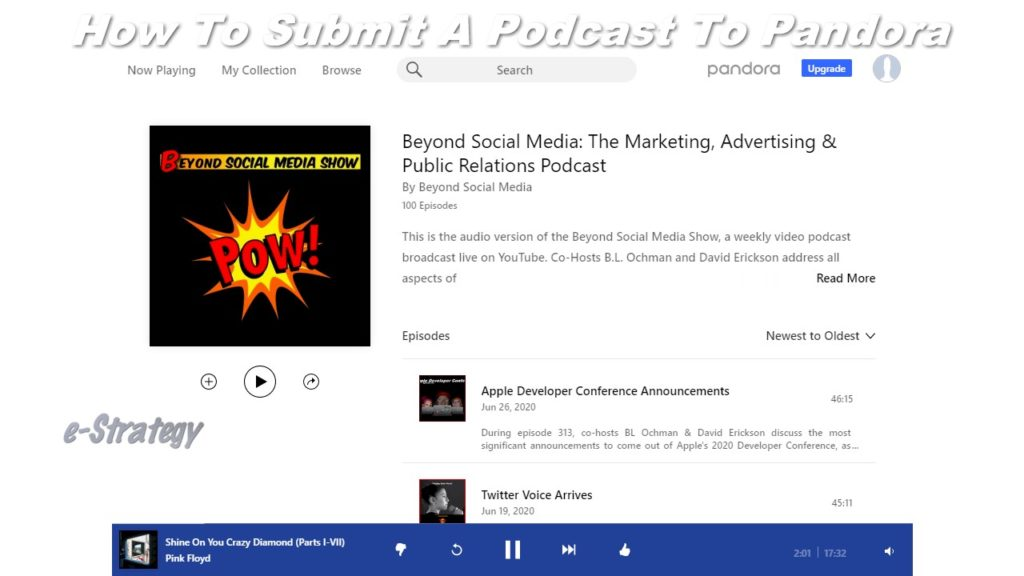 How To Submit A Podcast To Pandora