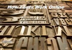 How Fonts Work Online